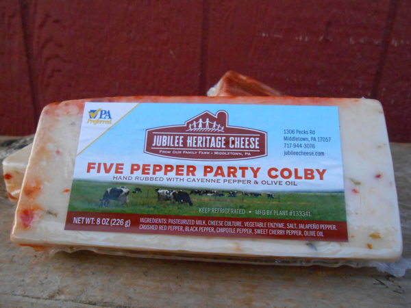 Five Pepper Party Colby Cheese